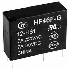 Relé do DPS Hongfa HF46F-G/012-HS1, 12 V/DC, 10 A, 1 spínací kontakt, 1 ks