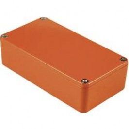Univerzální pouzdro hliníkové Hammond Electronics 1590BBRD, (d x š x v) 118,5 x 93,5 x 34 mm, červená