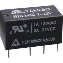 Signálové relé Tianbo Electronics HJR1-2C-L-12VDC, 2 A , 60 V/DC/ 240 V/AC , 120 VA/ 60 W