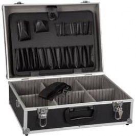 Hliníkový kufr na nářadí Alutec 61200, (š x v x h) 460 x 165 x 360 mm, černá
