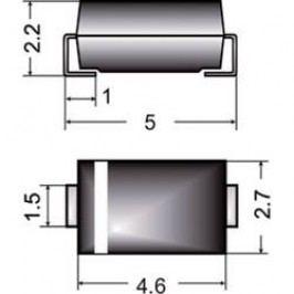 SMD dioda Semikron FR 1A, U(RRM) 50 V, I(F) 1 A