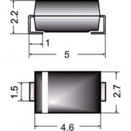SMD zenerova dioda Semikron Z1SMA13, U(zen) 13 V