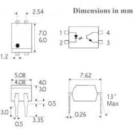 Optočlen Isocom Components ISP817CXSMT/R, DIL 4 SMD