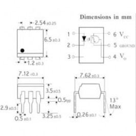 Optočlen Isocom Components H11L1SMT/R, DIL 6 SMD