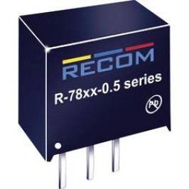 DC/DC měnič Recom R-786.5-0.5 (80099077), výstup 6,5 V/DC / 0,5 A, vstup 8 - 32 V/DC, SIP 3