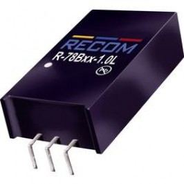 DC/DC měnič Recom R-78B15-1.0L (80099232), výstup 15 V/DC / 1 A, vstup 20 - 32 V/DC, SIP 3, 90°