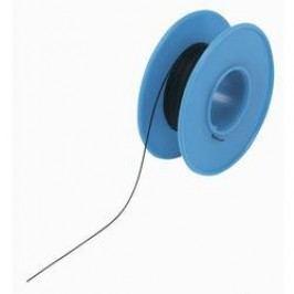 Vinutý drát 93014c341, 1x 0,08 mm², Ø 0,53 mm, 15 m, černá