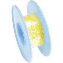Vinutý drát 93014c377, 1x 0,01 mm², Ø 0,25 mm, 15 m, žlutá