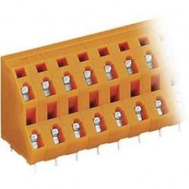 2řadá svorkovnice do DPS 4nás. série 736 WAGO 736-604, 7,62 mm, oranžová