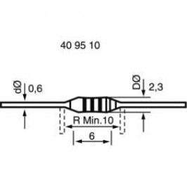 Uhlíkový rezistor, 1,8 MΩ, 0207, axiální vývody, 0,25 W, 5 %