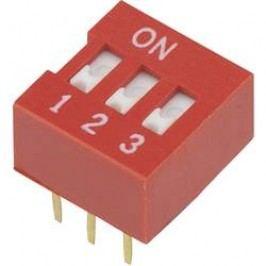 DIP spínač DSR-03, 9,9 x 5,7 mm, 3pól.