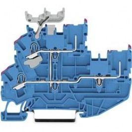 Dvojřadá svorka Wago 2022-2234, se štítkem, pružinová, 5,2 mm, modrá