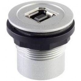 USB vestavný adaptér Schlegel RRJ_USB_BA, IP65, zásuvka Typ B <=> zásuvka Typ A, kov
