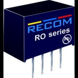 DC/DC měnič Recom RO-1209S (10000600), vstup 12 V/DC, výstup 9 V/DC, 111 mA, 1 W