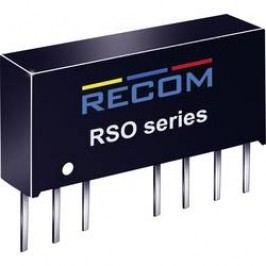 DC/DC měnič Recom RSO-0505D (10002910), vstup 4,5 - 9 V/DC, výstup ±5 V/DC, ±100 mA, 1 W