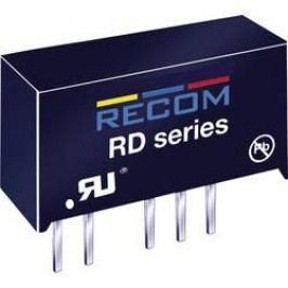 DC/DC měnič Recom RY-0512D (10002967), vstup 5 V/DC, výstup ±12 V/DC, ±41 mA, 1 W
