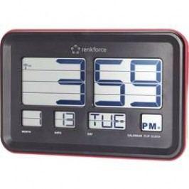 DCF nástěnné hodiny s překlápěcími číslicemi Renkforce A541, 45 mm x 222 mm x 144 mm , červená