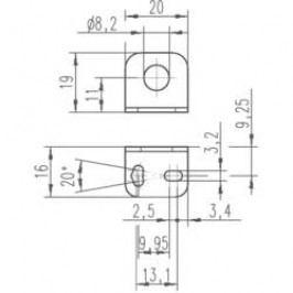 Upevňovací úhelník pro indukční senzory Leuze Electronic 50113549, BT D12S5