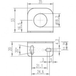Upevňovací úhelník pro indukční senzory Leuze Electronic 50113548, BT D18S5