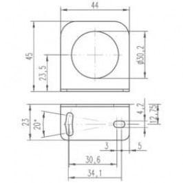 Upevňovací úhelník pro indukční senzory Leuze Electronic 50113510, BT D30S5