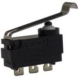 Mikrospínač s páčkou Zippy DW-N3S-04A0A-Z, 12 V/DC, 3 A, pájecí očka, 1x zap/(zap)