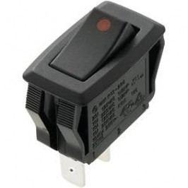 Kolébkový přepínač SCI R13-205A2-01, 250 V/AC, 16 A, 2x vyp/zap