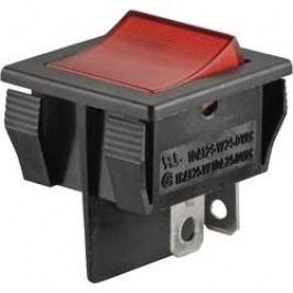 Kolébkový přepínač SCI R13-30B-01 RT, 250 V/AC, 10 A, 1x vyp/zap
