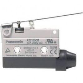 Koncový spínač Panasonic AZ7120CEJ, 10 A, 115 V/DC / 250 V/AC, rovná kovová páka