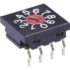 Otočný přepínač NKK Switches FR01FR10H-S, 10 poloh, 50 V/DC, 0,1 A