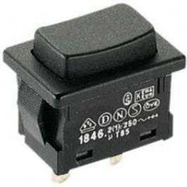 Tlačítko Marquardt 1846.0201, 250 V/AC, 2 A, pájecí piny, 1x vyp/(zap)