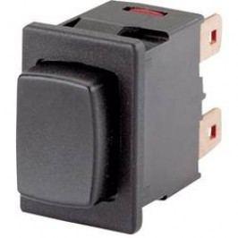 Tlačítko bez aretace Marquardt 1683.1201, 250 V/AC, 16 A, černá, 1x vyp/(zap)