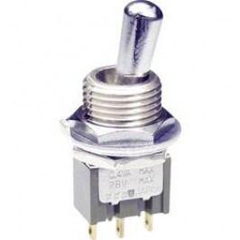 Páčkový přepínač NKK Switches M2012SD8G01, 28 V DC/AC, 0,1 A, pájecí očka, 1x zap/zap