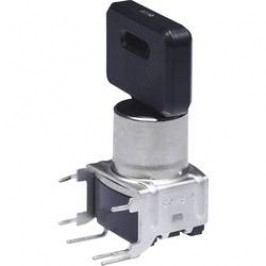 Spínač s klíčem NKK Switches SK14DG30, 2x 45 °, 12 mm, 28 V DC/AC, 0,1 A, 1x zap/zap/zap