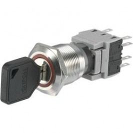 Spínač s klíčem LAS1-BGQ-22Y/31, 2x 90 °, 19 mm, 250 V/AC, 5 A, 2x zap/vyp/zap