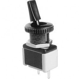 Páčkový přepínač APEM 4631A-22 (46310035), 12 mm, 250 V/AC, 3 A, 1x vyp/zap