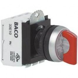 Otočný přepínač BACO L21KG30B, 1x 45 °, 600 V, 10 A, šroubovací, černá