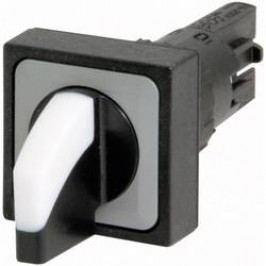 Otočný přepínač Eaton Q18WK3R (072309), 2x 45 °, 16 mm, plochý konektor 2,8 mm, bílá
