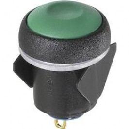 Tlačítkový spínač APEM IQR1S432, 16 mm, 24 V/DC, 0,1 A, pájecí očka, 1x vyp/zap
