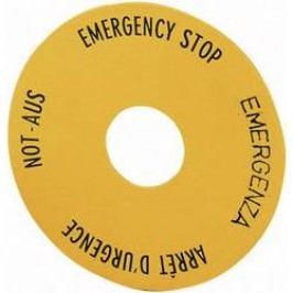 Štítek na nouzové tlačítko Eaton SRT1 (058873), žlutá