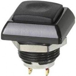 Tlačítko APEM ICC3SAD4, 12 mm, 28 V/DC, 5 A, pájecí očka, 1 spínací, 1x vyp/(zap)