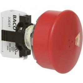 Nouzové tlačítko BACO L22DU01G (BAL22DU01G), 22,3 mm, šroubovací, červená