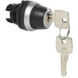 Spínač s klíčem BACO L21NK00 (223963), 2x 45 °, 22,3 mm, černá/chrom