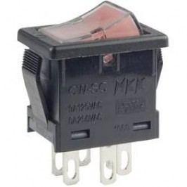 Kolébkový přepínač NKK Switches CWSC21JFAFS, 250 V/AC, 6 A, pájecí očka, 2x vyp/zap