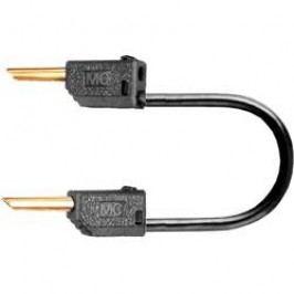 Měřicí kabel banánek 2 mm ⇔ banánek 2 mm MultiContact LK2-F, 0,3 m, černá