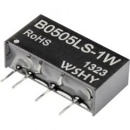 DC/DC měnič B0505LS-1W, SIP-7, 200 mA, 5 V/DC / 5 V/DC, 1 W, 70 %