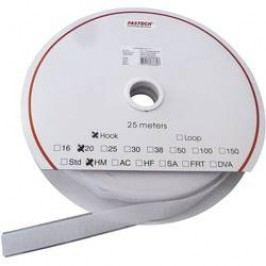 Samolepicí páska se suchým zipem Fastech HOOK HM PS-A69 20MM, 20 mm, bílá, 25 m