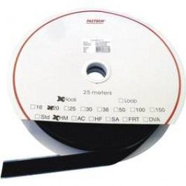Samolepicí páska se suchým zipem Fastech HOOK HM PS-A69M, 25 mm, černá, 25 m