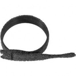 Sada stahovacích pásek se suchým zipem Velcro ONE-WRAP Strap®, 200 x 20 mm, černá, 750 ks