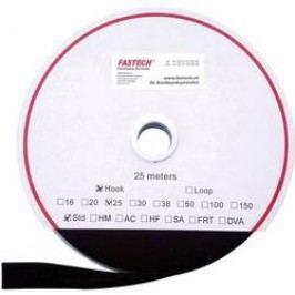 Pásek k našití se suchým zipem Fastech T0102599990125, černá, 25 mm, 25 m
