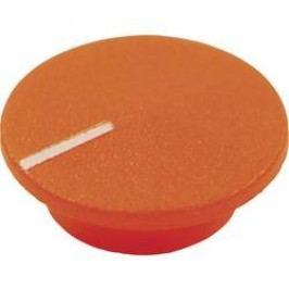 Krytka tlačítka Cliff CL1769, oranžová, 9,25 mm